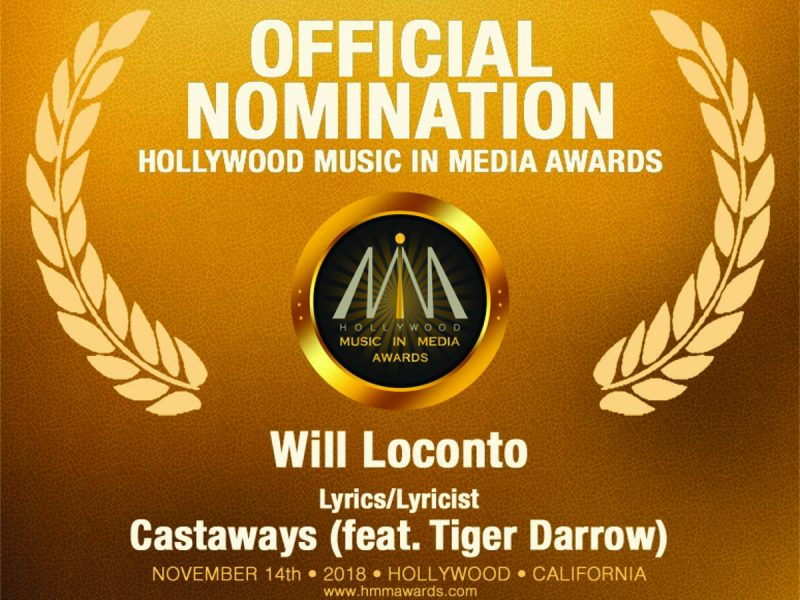 Two Hollywood Music in Media Awards Nominations for Castaways (feat. Tiger Darrow)