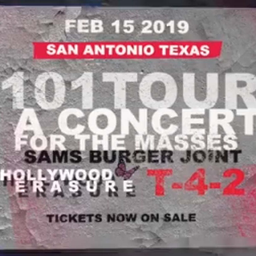T-4-2 Live in San Antonio, Texas – February 15, 2019 with Devotional and Hollywood Erasure.