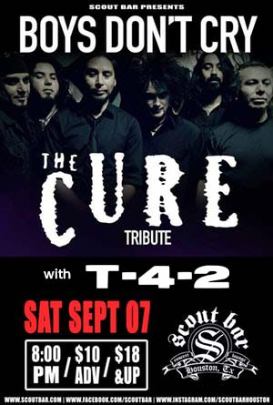 Boys Don't Cry- a tribute to The Cure w/T-4-2